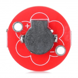 5V Active Buzzer Sensor for Arduino Lilypad - Black + Red