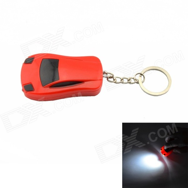 Electric Shock LED Luminous Car Key Ring Keychain - Red (3*AG3)