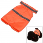 DM30076 Polyester Pet Apparel w/ Reflective Tape / Velcro Band for Dog - Orange (M)