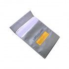30*23cm Exposion-Proof Safety Storage Bag for RC Battery - Silver Grey