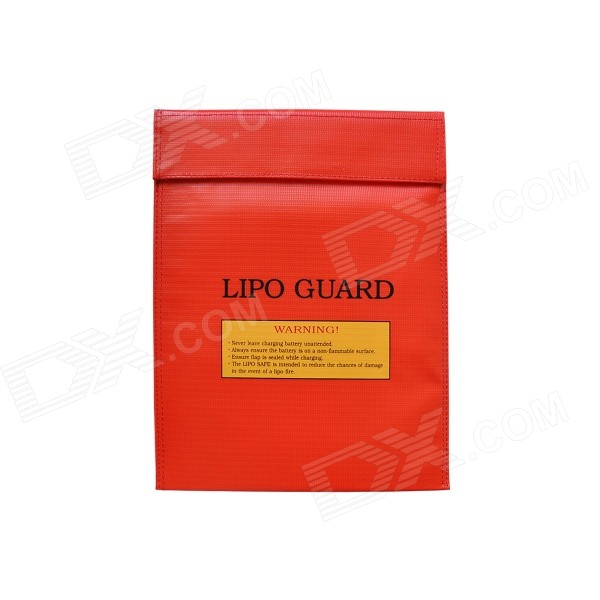 30*23cm Exposion-Proof Safety Storage Bag for RC Li-Po Battery - RedRepair Parts and Tools<br>Form ColorRedModel30 x 23cmMaterialFireproof materialQuantity1 DX.PCM.Model.AttributeModel.UnitCompatible ModelRC li-po batteryPacking List1 x Safety guard bag (30 x 23cm)<br>