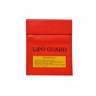 22 x 18cm Exposion-Proof Safety Guard Storage Bag for RC Li-Po Battery - Red