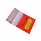 22*18cm Exposion-Proof Safety Storage Bag for Li-Po Battery - Red