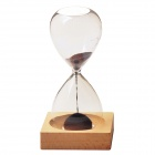 WB-9PIG Creative Blooming Magnet Hourglass - Transparent + Red