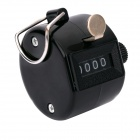 4-Digit Manual Mechanical Counter - Black (Max. 9999)