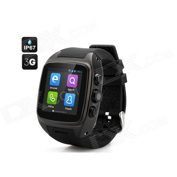 Imacwear M7 Android 4.2 3G Watch Phone w/ 512MB RAM, 4GB ROM - Black