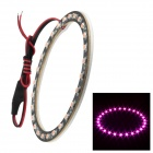 Merdia 1W 100lm 27-SMD 3528 LED Pink Light Angel Eye Car Decoration Light (100mm Diameter)
