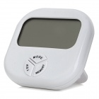"HTC-3 2.6"" LCD Screen Hygrometer & Thermometer w/ Clock / Alarm / Calendar - White (1 x AAA)"