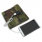 Universal Portable 4-Folding 10W 5V USB 2.0 Solar Panel Charger - Camouflage