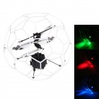 Mini 3.5-CH UFO Flying Ball w/ Gyro / LED Light - White + Black