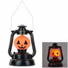 T104 Pumpkin Style Lantern w/ Sound Effect for Halloween - Black + Orange (3 x AA)