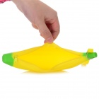 Banana Style Silicone Purse Storage Bag - Yellow + Green