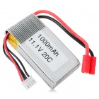 11.1V 20C 1000mAh Li-polymer Battery for Walkera Master CP HM-Master CP-Z-27 - White + Silvery Grey