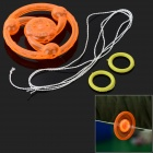 Plastic Hand Pull Line Flywheel Toy w/ Light for Children - Orange