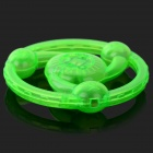 Plastic Hand Pull Line Flywheel Toy w/ Light for Children - Green