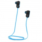 GFive E6 Sport Wireless Bluetooth v4.0 In-ear Earphones Headset w/ Microphone - Blue + Black