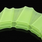 Silicone Webbed Gloves for Swimming - Green (Size M)