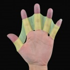 Silicone Webbed Gloves for Swimming - Green (Size M / Pair)