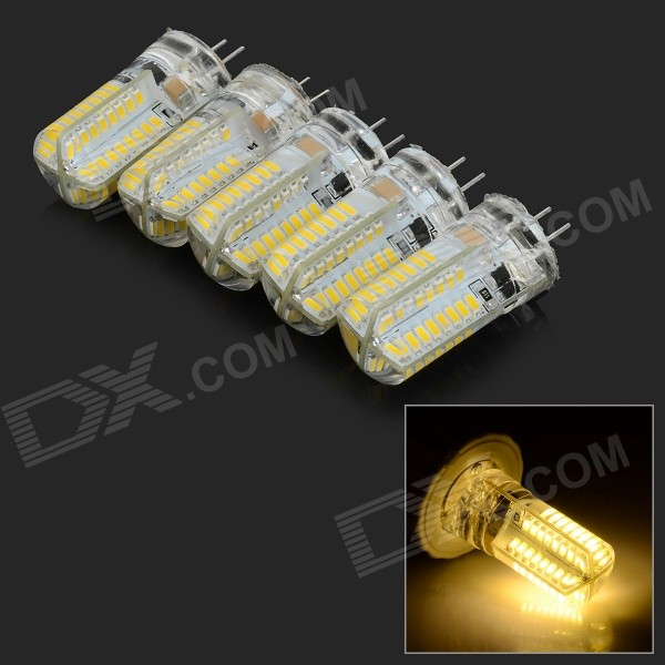JRLED G4 4W 400lm 64-SMD 3014 Warm White Light Corn Lamps (5PCS)