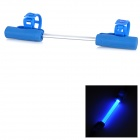 Silicone 30lm 3-Mode Blue Light Bike Light - Blue + Transparent (3 x AG13)