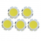 JR-LED 5W 500lm 6300K 25-COB-LED-Weißlicht-Emitter-Boards - White + Beige (DC 16 ~ 18V / 5 PCS)