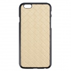Woven Pattern Leather Flip Open Case for IPHONE 6 PLUS - Light Yellow