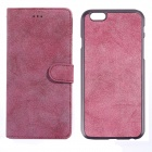Protective PU Leather + PC Flip Open Case w/ Card Slots for IPHONE 6 PLUS - Deep Pink