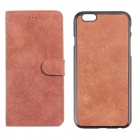 Protective PU Leather + PC Flip Open Case w/ Card Slots for IPHONE 6 PLUS - Orange