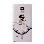 Buy Cartoon Girl Pattern Protective PC Battery Back Cover Samsung Galaxy Note 4 - White + Black