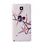 Birds Pattern Back Cover for Samsung Galaxy Note 4 - White + Purple