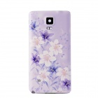 Orchids Pattern Plastic Battery Back Cover for Samsung Galaxy Note 4 - Light Purple + Multi-Color