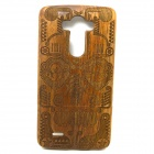 G3-1 Mask Style Detachable Protective Wood Back Case Cover for LG G3 - Brown