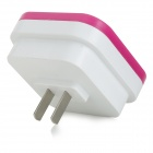 5W 26lm 4-SMD 5050 White Square Control Night Lamp - Deep Pink+White