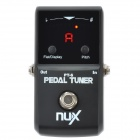 NUX PT-6 Pedal Chromatic Tuner for Electric Guitar - Black (1 x 6LR61)