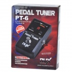 NUX PT-6 Pedal Chromatic Tuner for Electric Guitar - Black (1*6LR61)