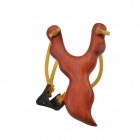 Magical Pen Style Rosewood Wood Slingshot w/ Steel Balls - Red Brown