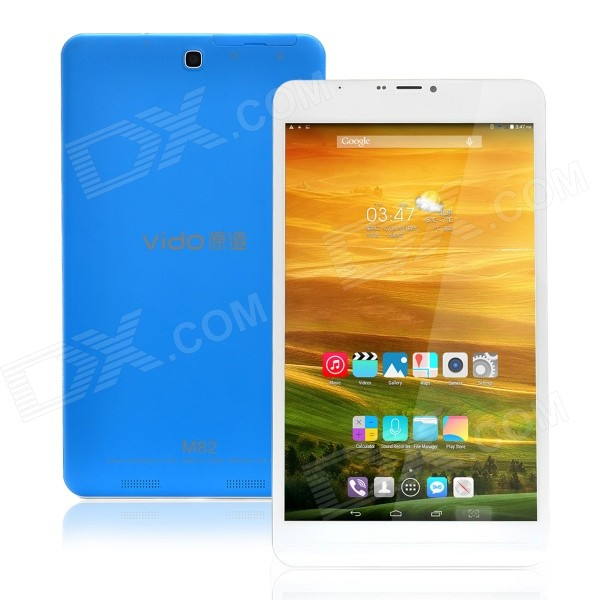 Vido M82 android 3G tablet w / 1GB RAM, 8GB ROM - wit + blauw