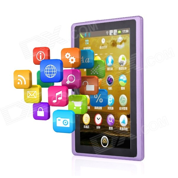 AOSD Q88D dual-core android tablet w / 512MB RAM, 4GB ROM - paars