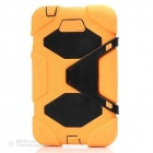 "Stylish Protective Silicone Case w/ Stand for Samsung Galaxy Tab3 7.0"" P3200 - Orange + Black"