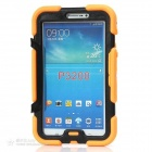 "silikon case w / stå for Galaxy Tab3 7.0"" P3200 - orange + svart"