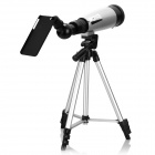 50X Spotting Scope Telescope w/ Viewing Attachment for IPHONE 6 / 6 PLUS / 5 / 5S - Black + Silver