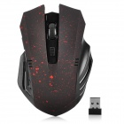 BSTUOW16 1000 / 1200 / 1600DPI USB 2.0 Wireless LED Gaming Mouse for Laptop - Black + Red
