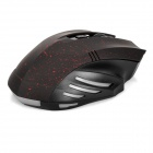 1000 / 1200 / 1600DPI Wireless LED Gaming Mouse - Black + Red