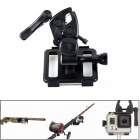 PANNOVO G-797 Universal Gun / Fishing Rod / Bow Fixing Clip Sportsman Mount for GoPro Hero 3+ / 4