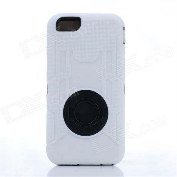 Shockproof Anti-dust TPU Back Case Cover Armor for IPHONE 6 - White