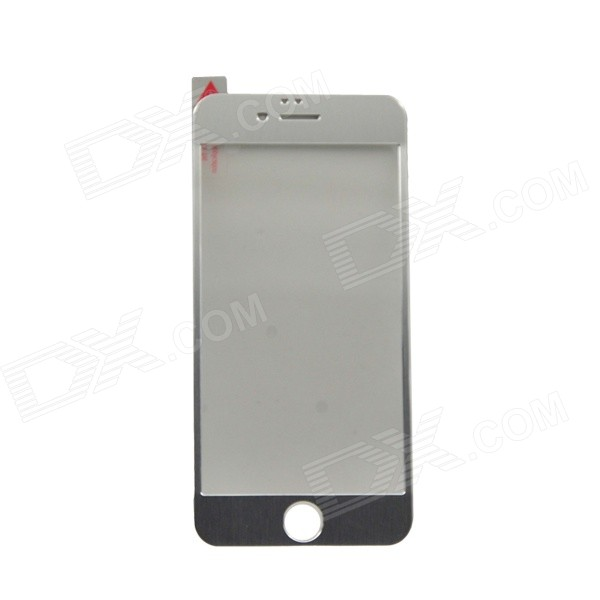 Titanium + Tempered Glass Membrane Screen Guard for IPHONE 6 - Silver