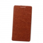 Fashionable PU Leather Full Body Case w/ Stand for Lenovo P780 - Brown