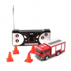 Mini Racing Red Bottled Remote Control Fire Truck Toy - Golden