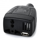 75W DC 12V til AC 220V Car Power Inverter m / USB-port - svart
