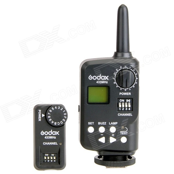 Godox 16-CH Wireless Power Control Flash Trigger + Receiver - Black